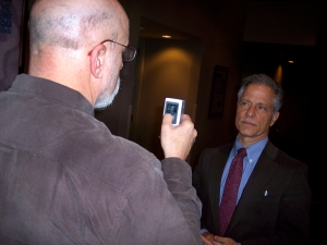 Ben Brown, up close and technological with Andres Duany.