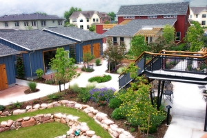 The Holiday community's co-housing units.
