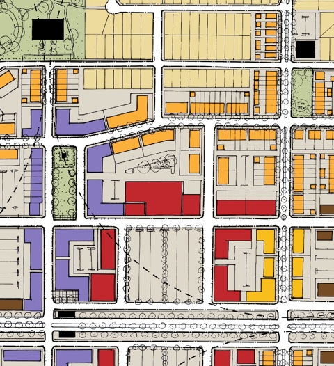 Mixed-Use Town Center Land-Use Map
